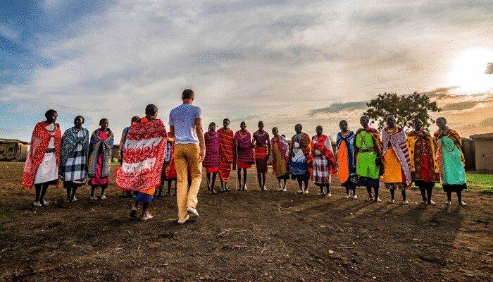 People at ceremony Kenya