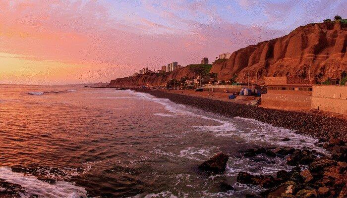 Sunset Beach in Lima Peru