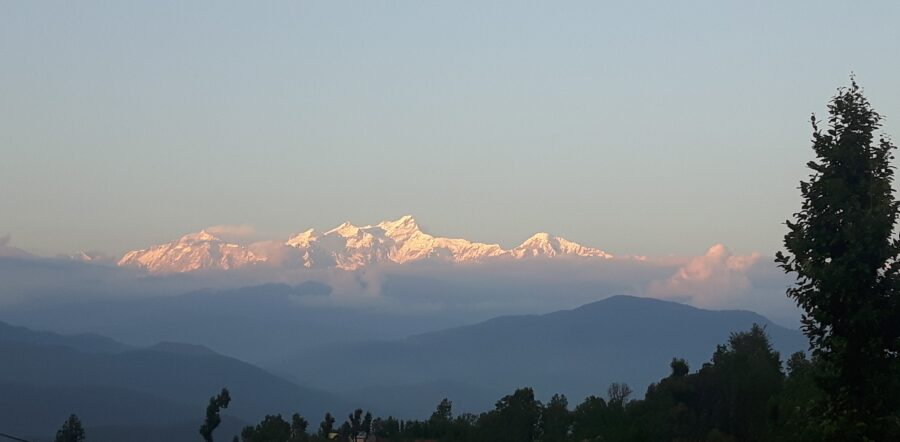 Annapurna at sunset Nepal