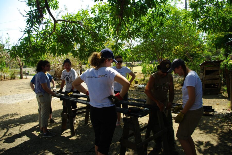 DWC volunteers with local firemen