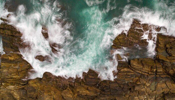 Swirling ocean Sri Lanka
