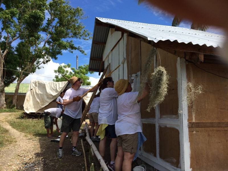 Painting a house in The Philippines