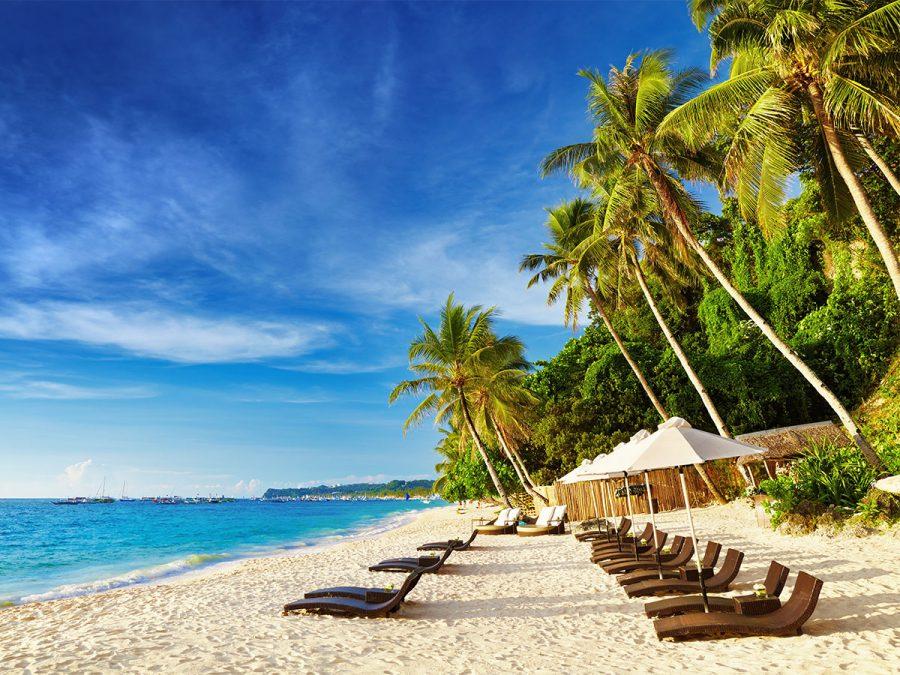 Beautiful white beach on Bohol Island The Philippines